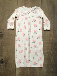 Pink Octopus Playtime Kimono Gown