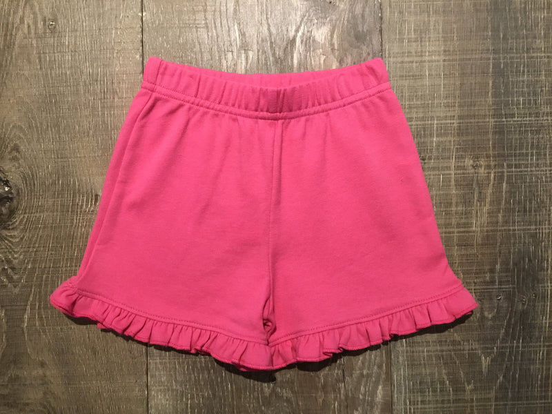 Hot Pink Ruffle Edge Shorts by Luigi Kids