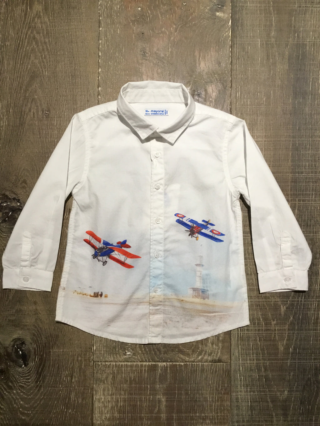 Airplanes Long Sleeve Button Down Shirt