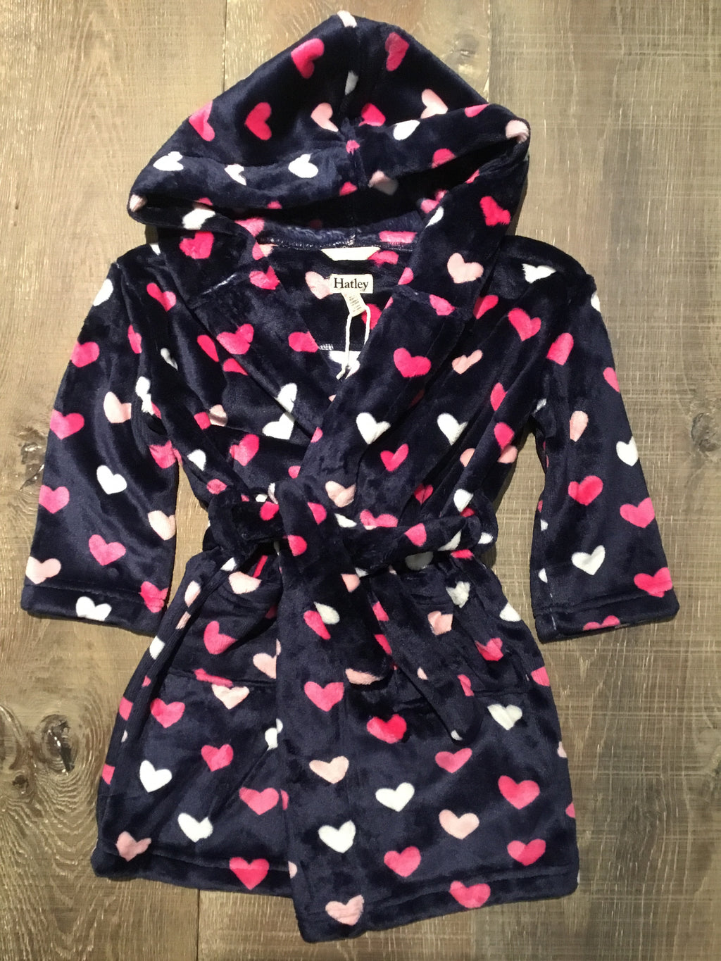 Lovey Hearts Fleece Robe