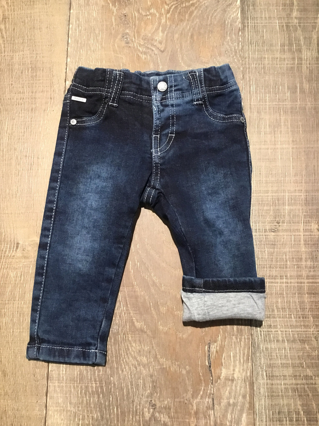 Adjustable Jeans with Jersey Lining
