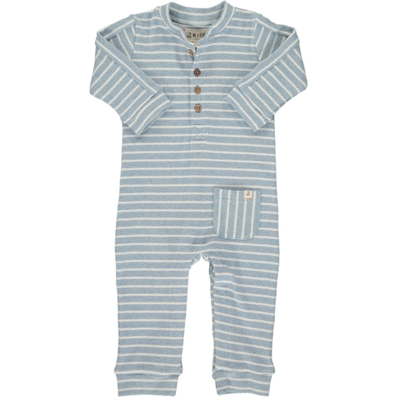 Blue Stripe Jersey Coverall