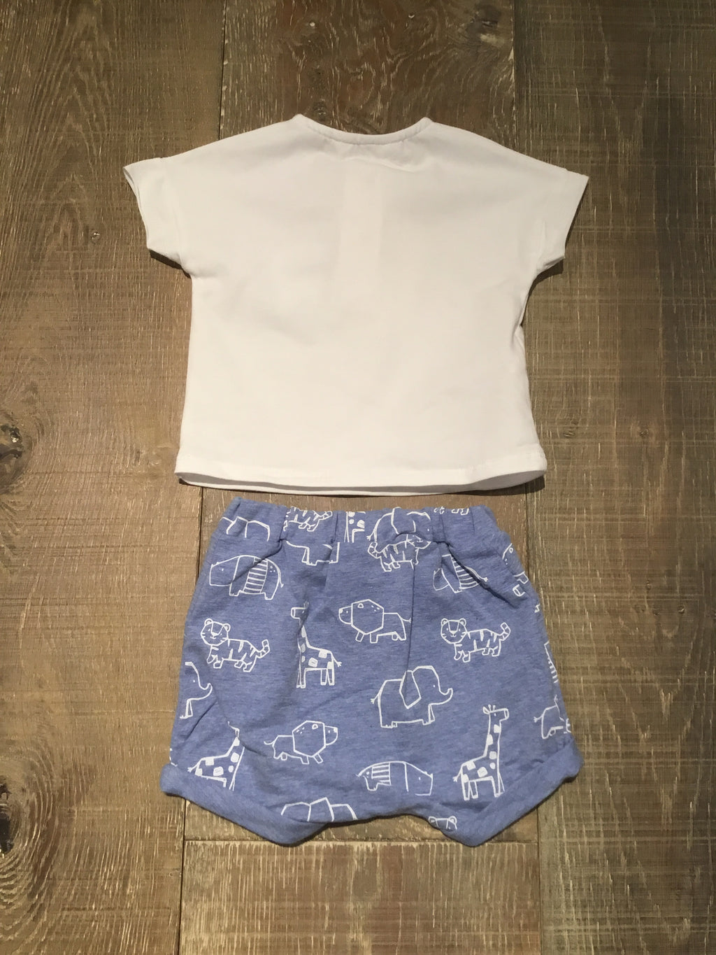 Henley Shirt & Origami Shorts Set