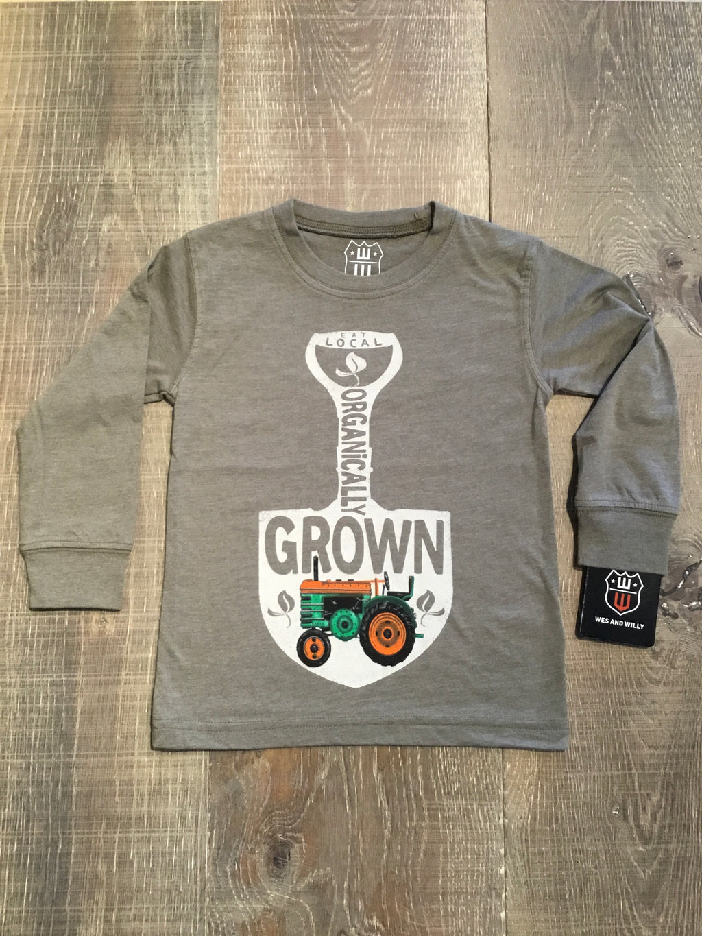 Organically Grown Long Sleeve Olive Green Tee