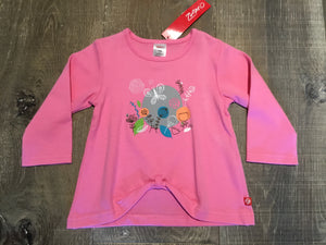 Pink Fairy Garden Long Sleeve Swing Top