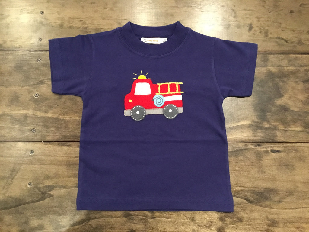 Fire Truck Short Sleeve Shirt by Luigi Kids