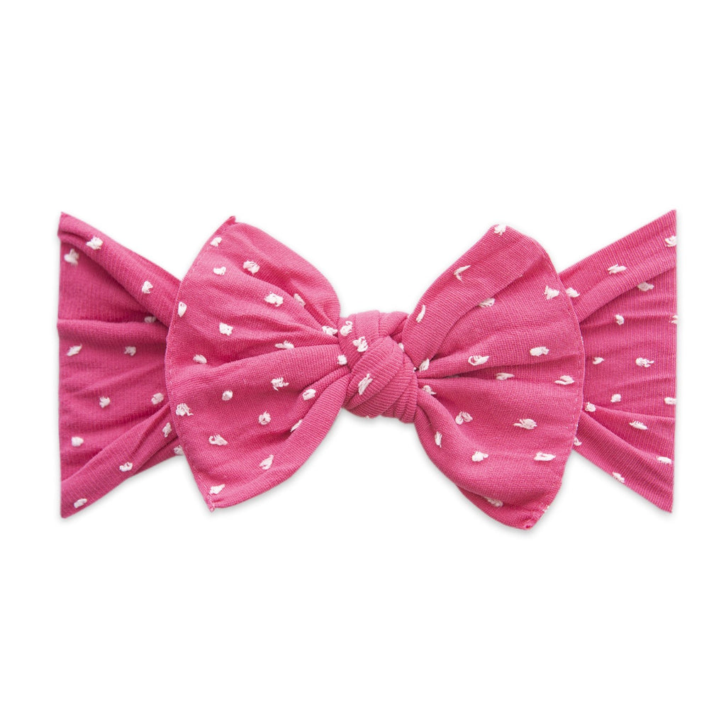 Hot Pink Dot Patterned Shabby Knot