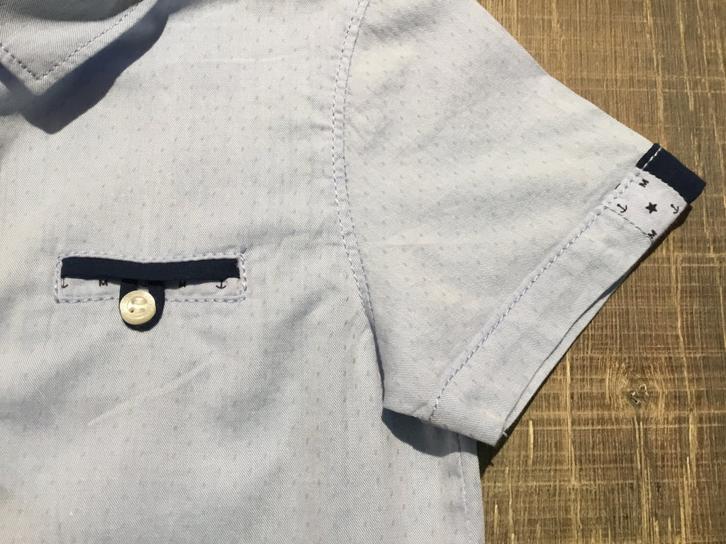 Light Blue Detailed Dress Shirt