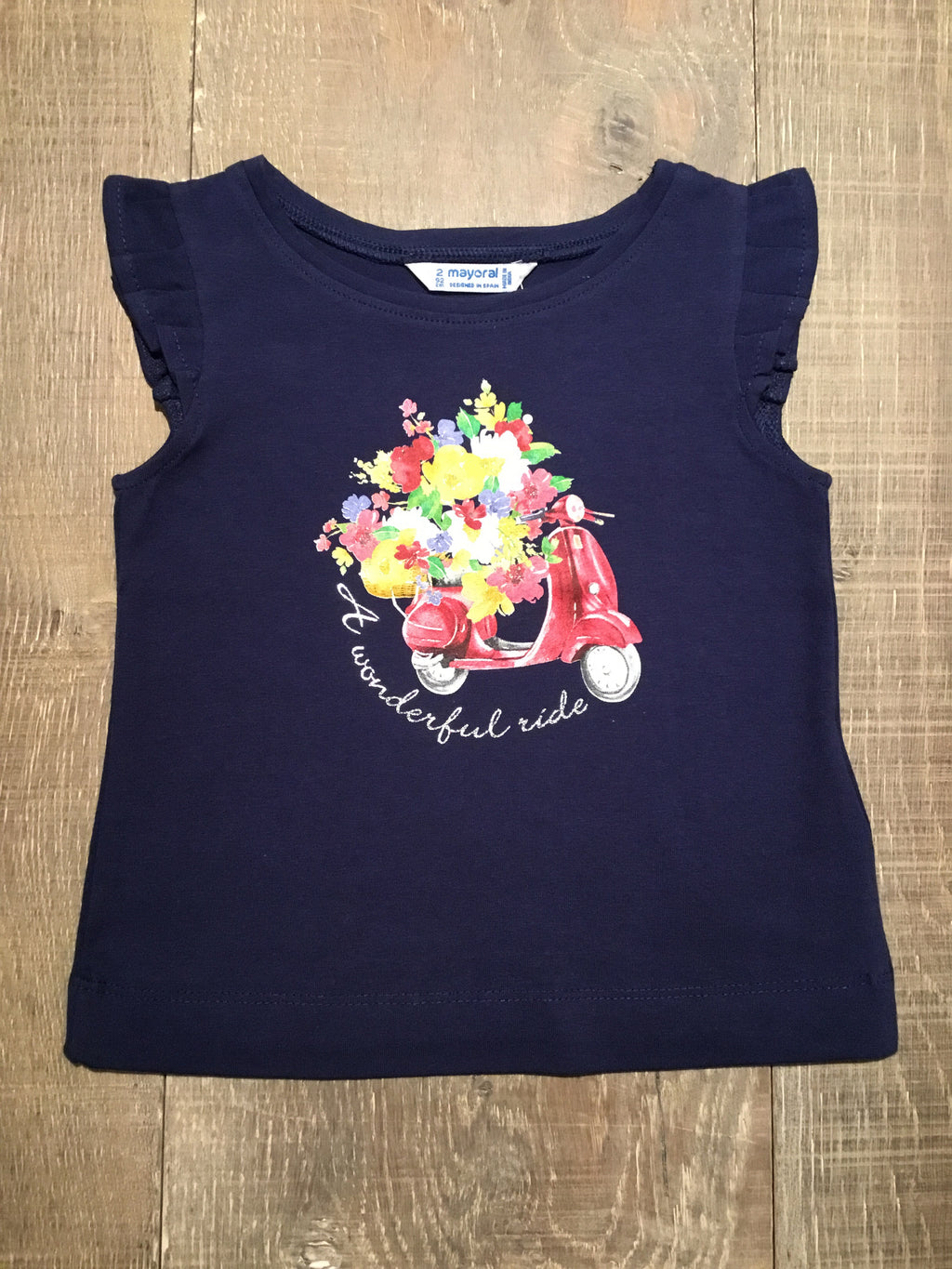 """A Wonderful Ride"" Navy Tank Top"