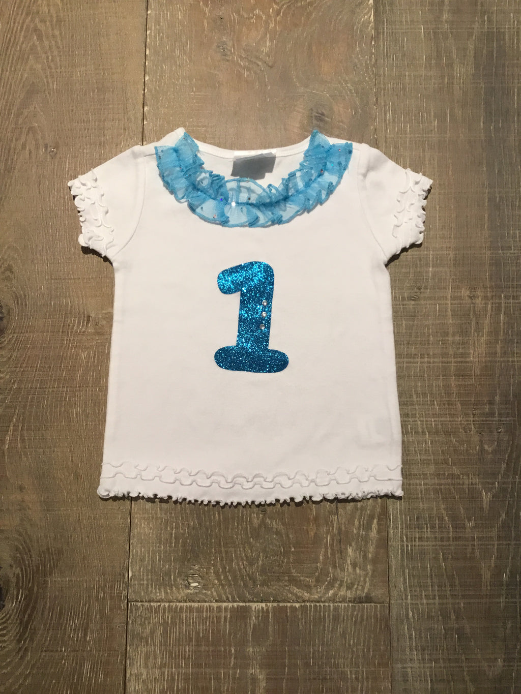 Sparkly Numbered Birthday Shirts