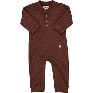 Rust Stripe Jersey Coverall