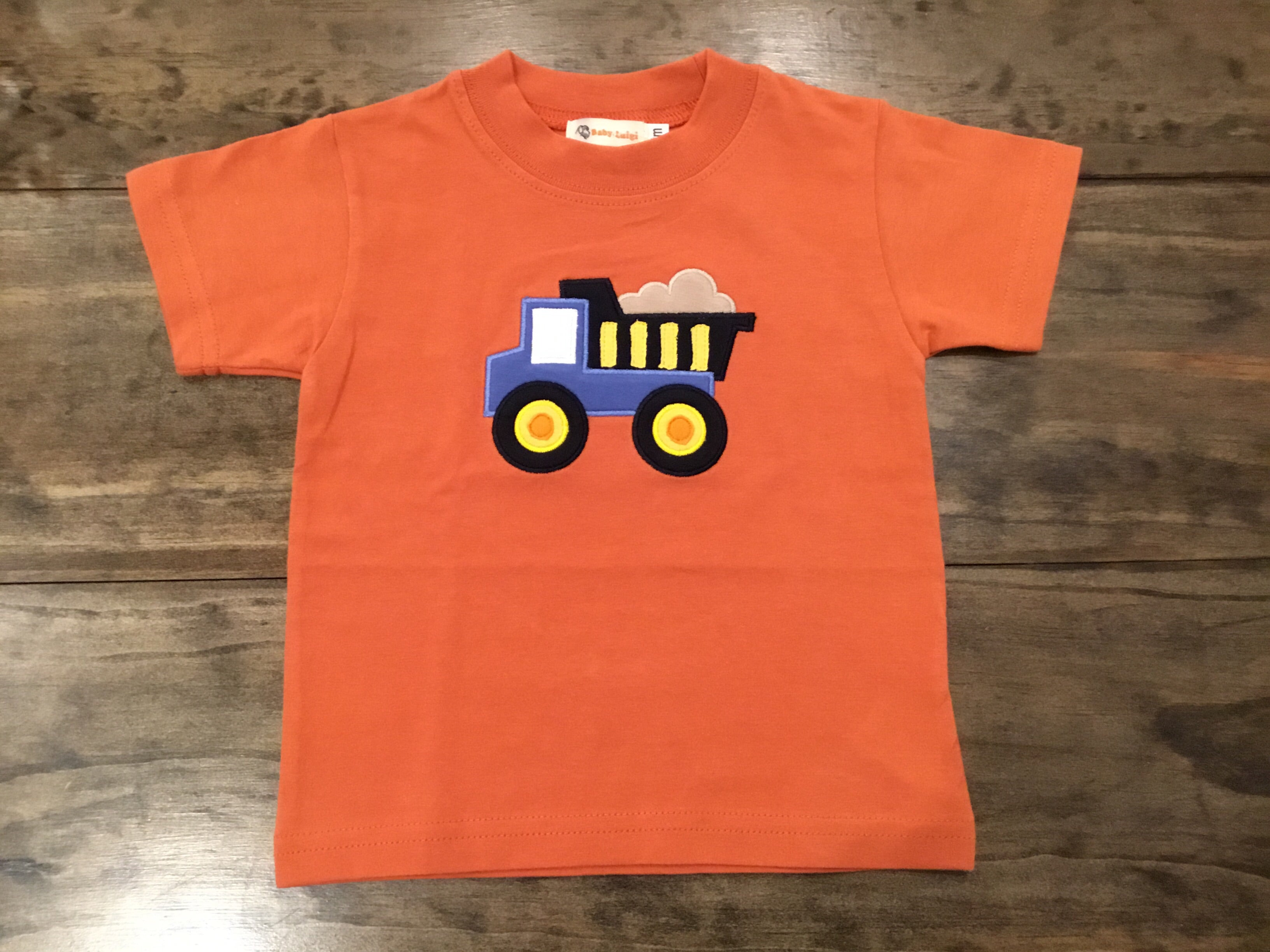 Dump Truck Short Sleeve Shirt by Luigi Kids
