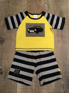 Black and Yellow Roki Short Set