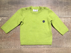 Guacamole Green Sweater with Shoulder Buttons