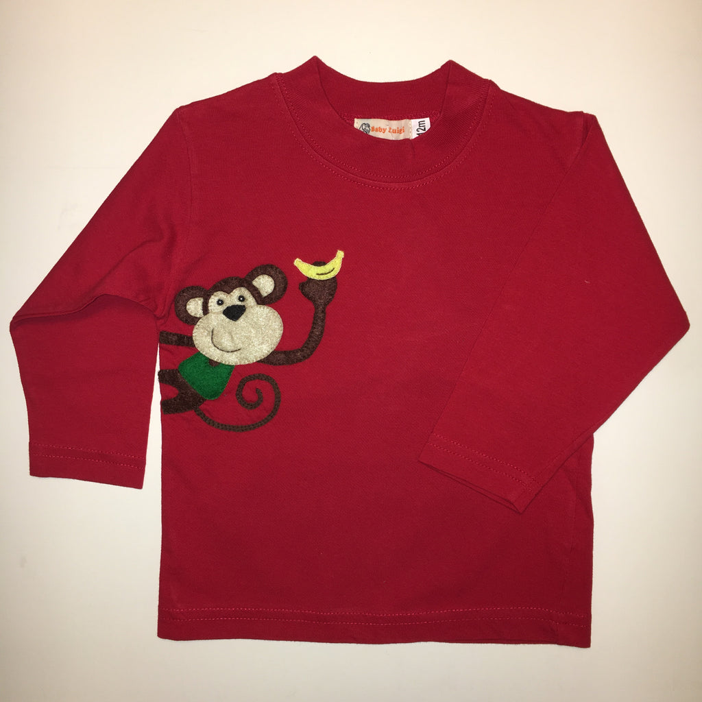 Luigi Monkey with Banana Long Sleeved T-shirt