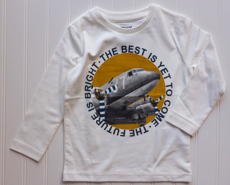 Bright Future Airplane Long Sleeve Shirt