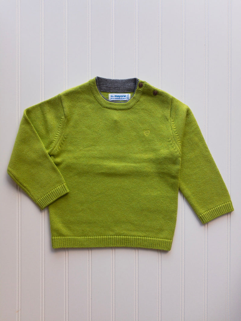 Kale Green Crew Neck Sweater