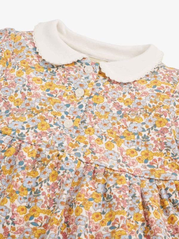 Vintage Floral Peter Pan Dress