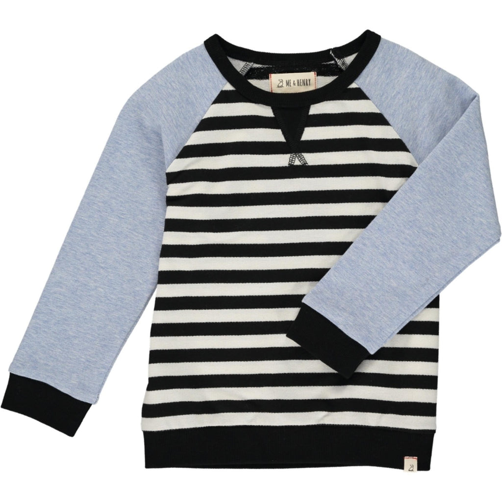 Black & White Stripe Raglan Sweatshirt