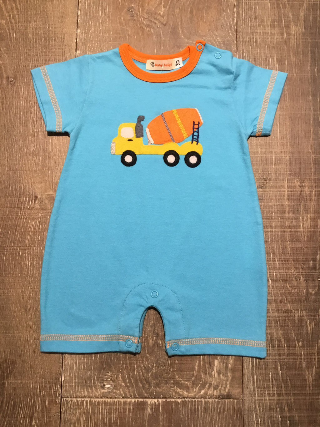 Cement Truck Short Romper