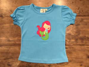 Mermaid Shirt on Turquoise by Luigi Kids