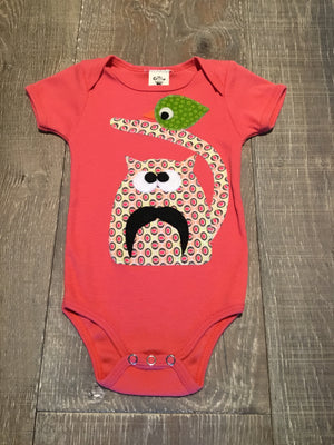Cat and Bird Coral Onesie