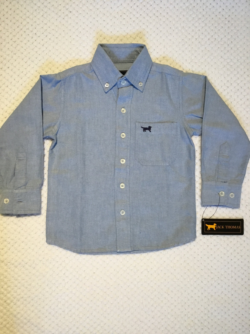 Blue Long Sleeve Oxford Dress Shirt
