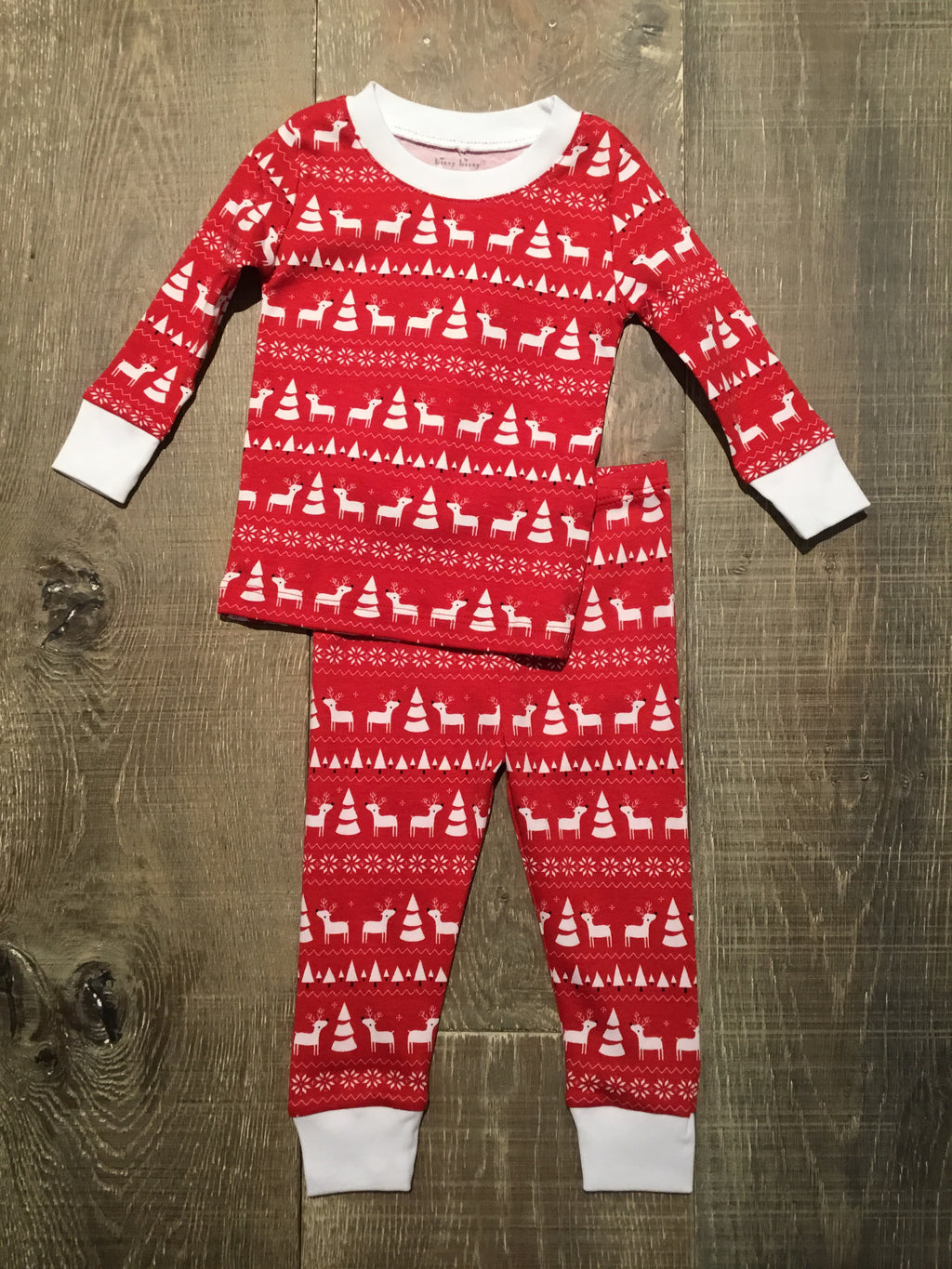 Red & White Christmas Deer PJ Set