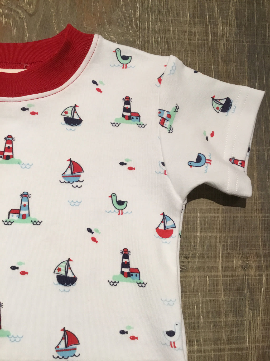 Sailboat & Lighthouse Print Tee