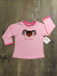 Big Sister Light Pink Long Sleeve Shirt