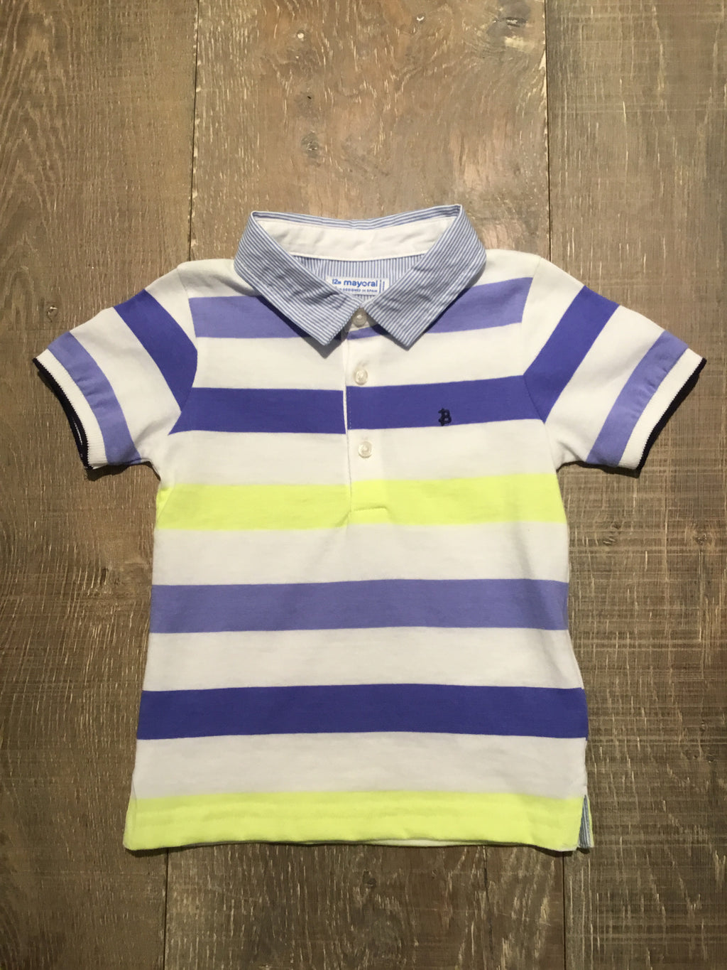 Lavender and Yellow Striped Polo