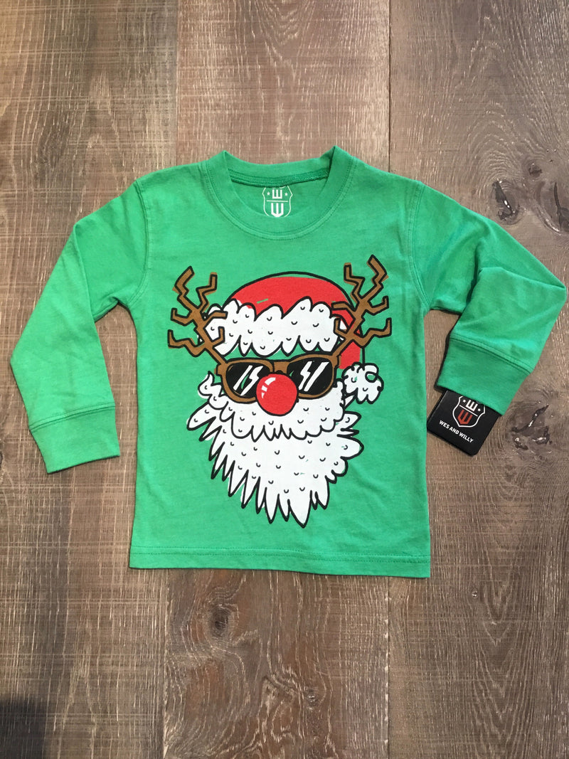 Santa Disguise Long Sleeve Irish Green Tee