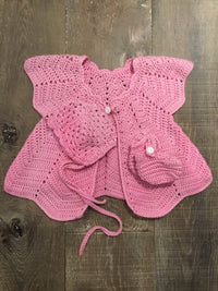 BBH Handknit Sweater, Bonnet, and Booties