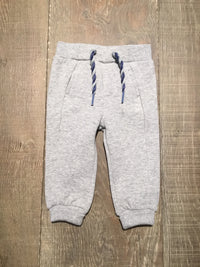 Grey Fleece Cuffed Trousers