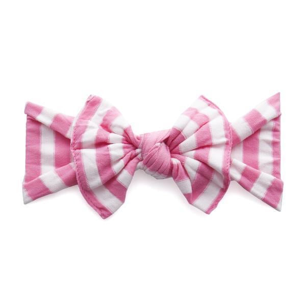 Pink Stripe Baby Bling Patterned Knot