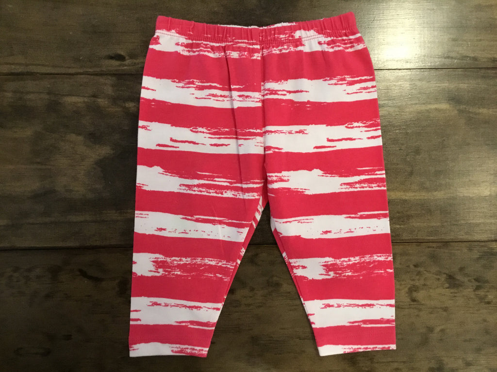 Hot Pink Brush Stroke Capri Leggings