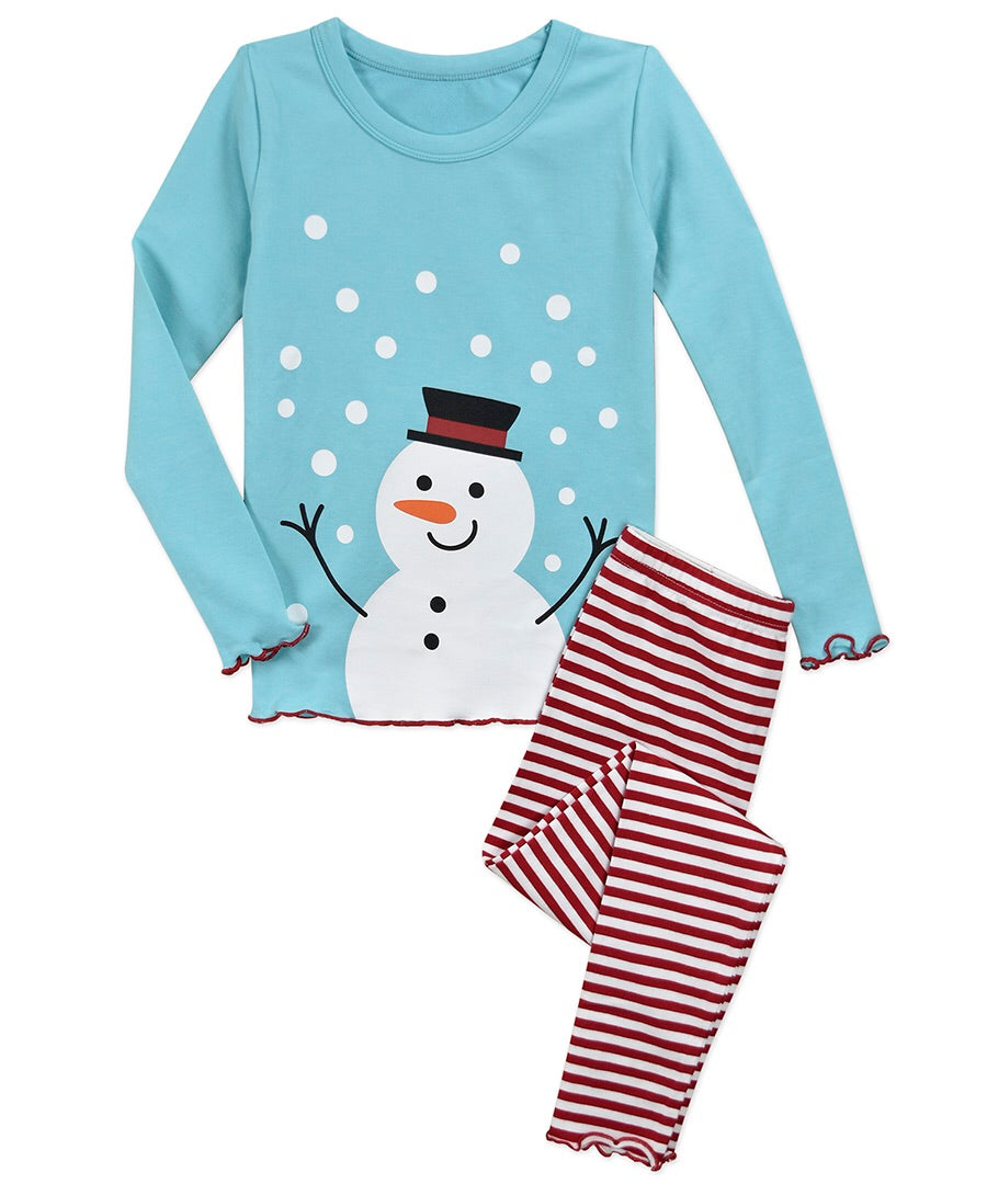 Sara's Prints Snowman Snug Fit PJs