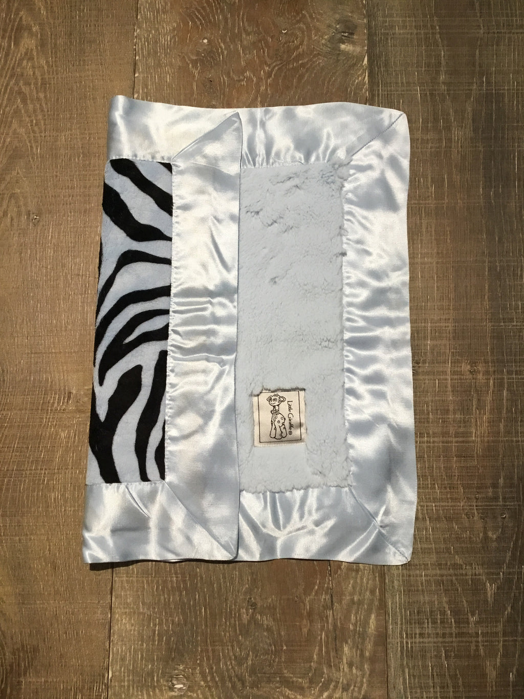 Luxe Blanky/Lovie - Blue Zebra