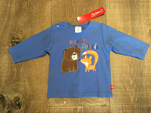 Forest Friends Blue Long Sleeve Shirt