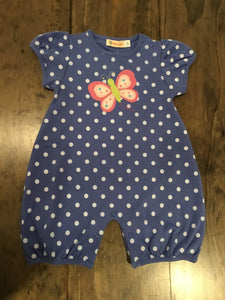 Polka Dot Butterfly Romper by Luigi Kids