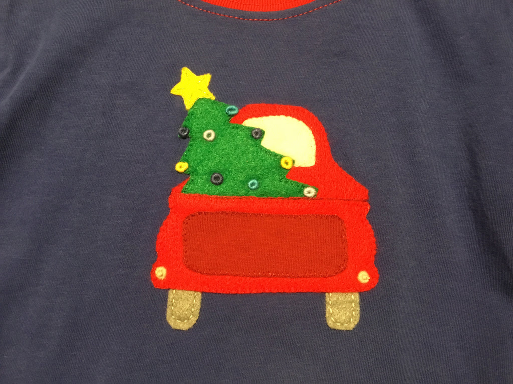 Truck & Christmas Tree LS Tee