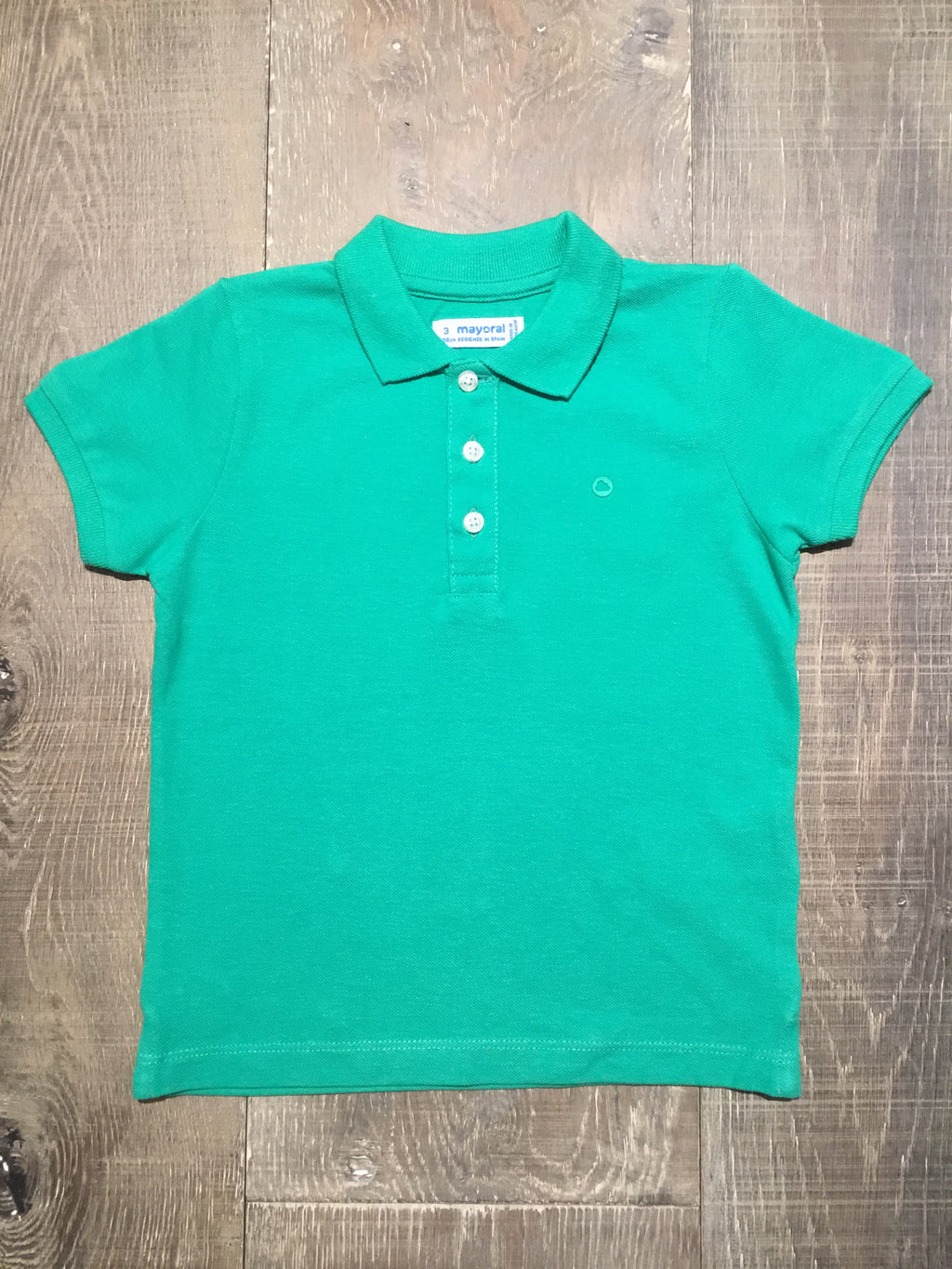 Green Short Sleeve Polo