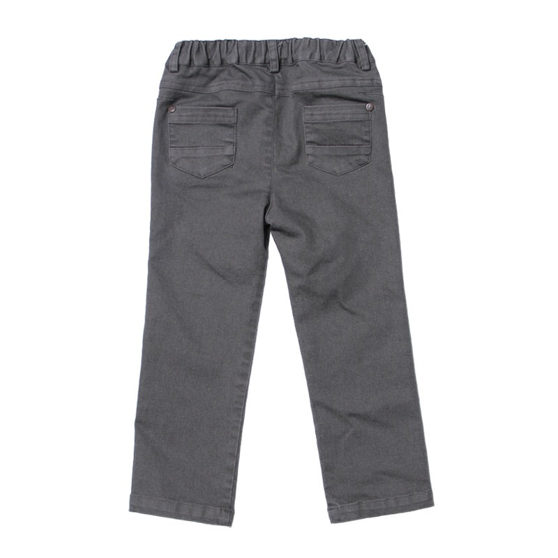 Grey Stretched Twill Pant