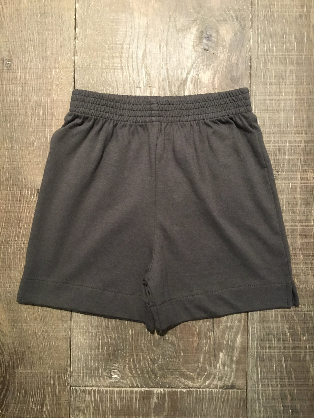 Charcoal Jersey Knit Shorts by Luigi Kids