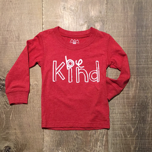 """Be Kind"" Red LS Tee"