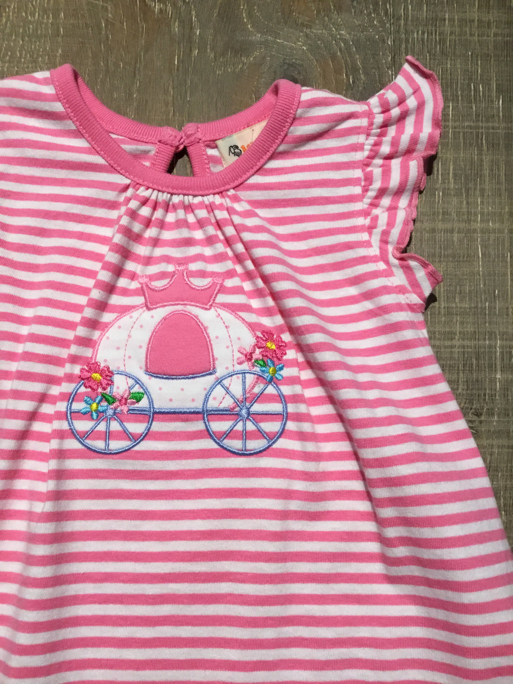 Princess Carriage Pink Stripe Top