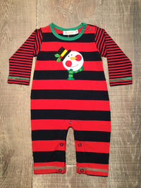 Snowman Face Striped Coverall