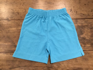 Turquoise Jersey Knit Shorts by Luigi Kids