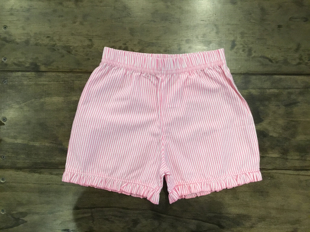 Ruffle Seersucker Stripe Shorts by Luigi Kids