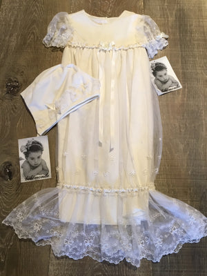 Belle Monde Ivory Gown and Bonnet